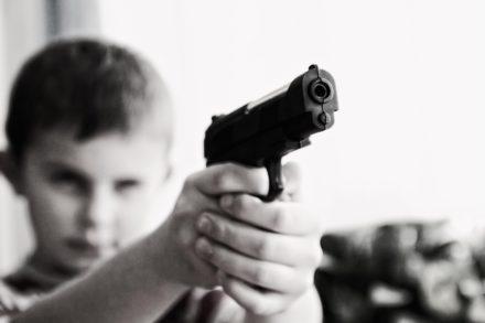 armes, enfants, rassemblement