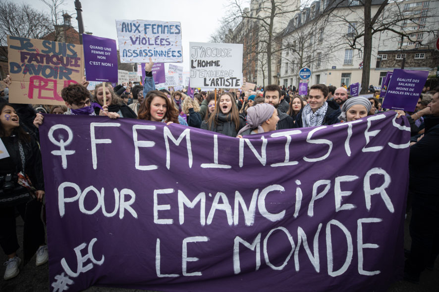 femmes, manifestation, Lyon